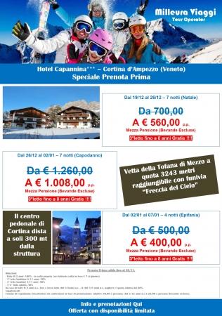 NEVE - Hotel Capannina Cortina Montagna Italia