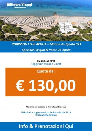 Pasqua Robinson Club Apulia in All Inclusive Mare Italia