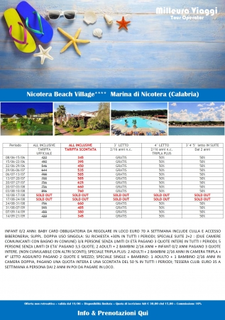 NICOTERA BEACH VILLAGE Mare Italia