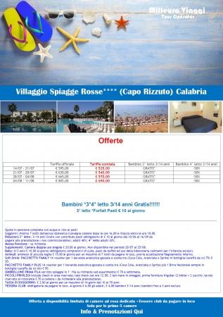 Villaggio Spiagge Rosse Mare Italia