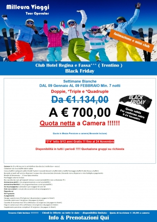 Club Hotel Regina e Fassa Montagna Italia