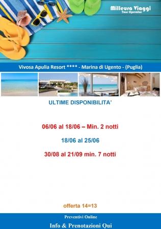 Vivosa Apulia Resort - Ultime disponibilità