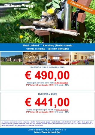 Austria Montagna - Lifthotel Kirckberg