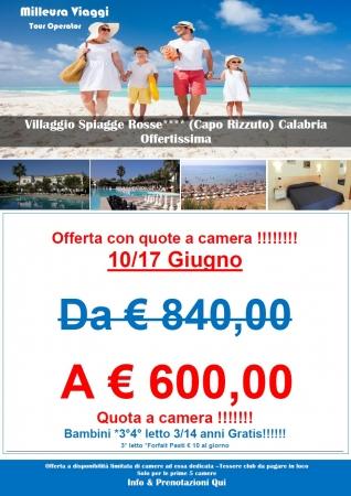 Offerta Spiagge Rosse Mare Italia