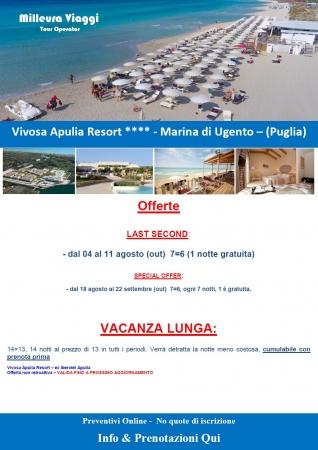 Vivosa Apulia Resort - Aggiornamento Offerte fino al 20 Luglio
