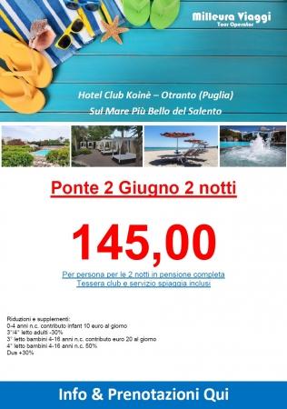 Ponte 2 giugno ad Otranto - Hotel Koinè Mare Italia