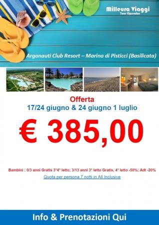 Offerta Argonauti Club Resort Mare Italia