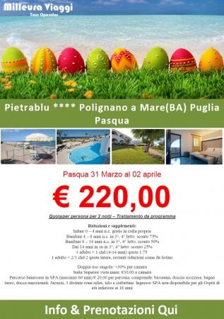 Pasqua al Pietrablu Resort Mare Italia