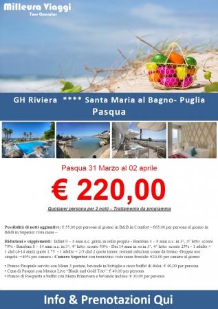 GH Riviera Pasqua 2018 Mare Italia