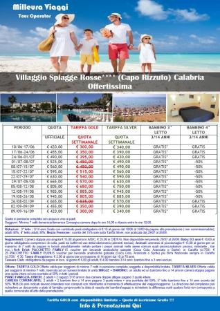 Offerta Villaggio Spiagge Rosse Mare Italia