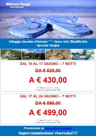 Speciale Giugno in Basilicata Mare Italia