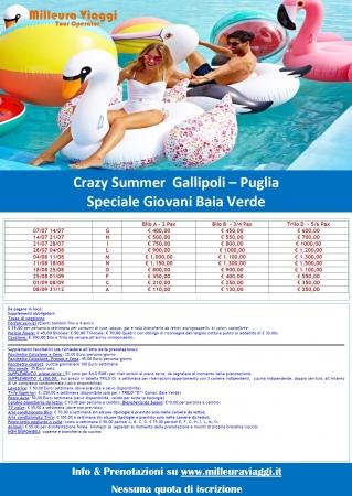 Crazy Summer - Gallipoli - Baia Verde Mare Italia